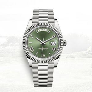 التلقائي ساعة رجل الرجال الكلاسيكية اليوم- التاريخ الساعات 40MM الكامل 5ATM الفولاذ المقاوم للصدأ للماء orologio السوبر مضيئة