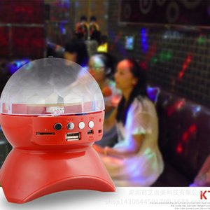 Mini LED Bluetooth Speaker Wireless Bluetooth Square Dance Colorful Rotating Stage Light Private Mode
