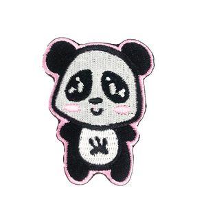 Atacado Bonito Panda Animal Bordado Patches Ferro Em Roupas T-shirt Chapéu Saco Applique Decoração Frete Grátis