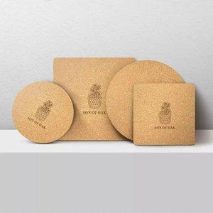 Xiaomi originale youpin Fils de chêne naturel liège Cuisine Isolation Pad pour plaque Bowl Pot Mats 6pcs / set 3007395C7