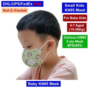 4-8 Aged crianças pequenas bebê CatToon padrão da cópia máscara facial com luz Respire Máscara vlave Criança descartável PM2.5 Poeira protecção anti nevoeiro