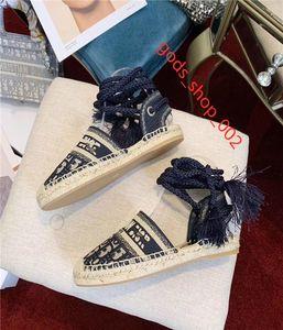 Dior Shoes Modefrauen Fischer Schuhe hococal baotou Sandalen Plattform leichte Schuhe der Frauen weben Querbinder Bindfäden Schnürsenkel Fischer Schuhe