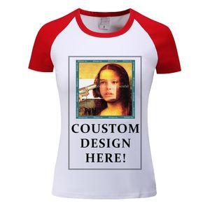 Verão de várias cores Camisetas Mulheres Casual de manga curta Tops Tees projeto próprio t-shirt Faça Imprimir foto feita Logo For Men