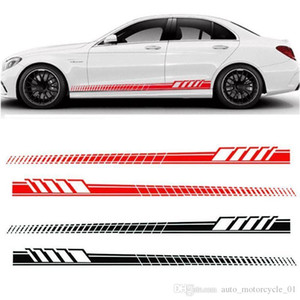 السيارات السيارات الخصر الجانبية التنورة الديكور ملصقات AMG الطبعة سباق الشريط الهيكل الجانبي جارلاند لمرسيدس بنز الفئة C W204 W205 GGA1733