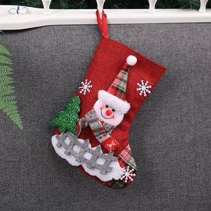 10 Pcs   Lot Christmas Xmas Socks Stockings Decorations Christmas Candy Sock Gift Bags for Tree