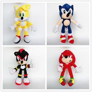 Hediyeler İçin Yeni varış% 100 Pamuk Sonic Kirpi Filmler Peluş Oyuncak Yumuşak Doldurulmuş Oyuncak 25-28cm