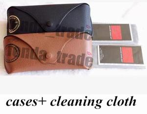 Étui en cuir marron noir Nouveau marron noir avec chiffon de nettoyage Prix usine Haute qualité