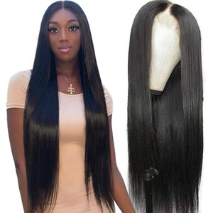 Straight Brazilian Virgin Human Hair 360 Lace Wig Pre Plucked With Baby Hair 150% Density Lace Front Wig Bleached Knots