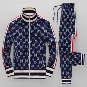 ss traje de chaqueta deportiva años funcionando de manera deportiva deportes de los hombres de letras de la medusa traje de impresión de ropa chándal sportsJacket sp