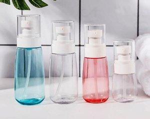 100 ml Kunststoff-Sprühflasche PET-Kunststoff-U-Form mit Pumpe für Handwaschflüssigkeit, Flüssigkeit, Shampoo, Lotion Parfüm ätherisches Öl pink blue