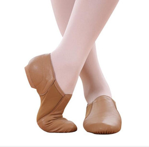 High quality cowhide dancing shoes are popular! Dance Shoes Jazz Dance with Leather Elastic Cloth Shoes