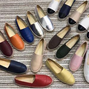 Fisherman clássico sapatos de Designer 100% das mulheres plataforma de couro de luxo Shoes real Lambskin primavera outono couro macio Letters preguiçosos calçados casuais