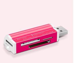 4 em 1 Micro USB 2.0 Memory Card Reader Adaptador USB para cartão Micro SD TF M2 MMC MS PRO Duo Card Reader