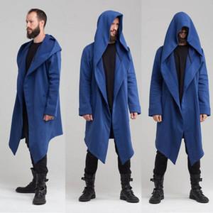Le donne unisex lungo Outwear con cappuccio inverno caldo cappotto casuale