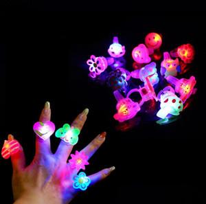 Flashing Jelly LED Anel Dos Desenhos Animados Enchidos Pinata Crianças Partido Menina Presentes de Aniversário Do Partido Da Dança Presentes de Aniversário LEVOU Brinquedos SN1837