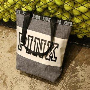 ROSA Mami Beach manera de los bolsos de tela Oxford impresa letra al aire libre a prueba de agua bolsa de picnic contratado bolsos portátil del bolso del almuerzo WY556