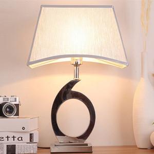 arte nórdico hierro E27 lámpara de escritorio decorativa lámpara de mesa de estudio dormitorio sala de mesa de la personalidad minimalista LR019 luz