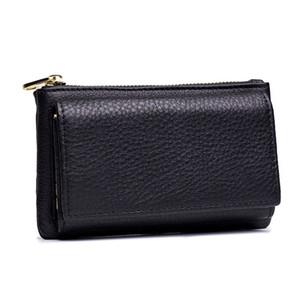 Titular mulheres Couro Governanta Key Carteira inteligente Bag Car Bolsa Anel Enrole Organizer Caso Homem Com Moeda Keychain