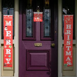 Красочные рождественских ткани Куплеты дверь стена висит знак для сада Открытого Merry Christmas Decoration Баннер стена Подвеска LXL634Q