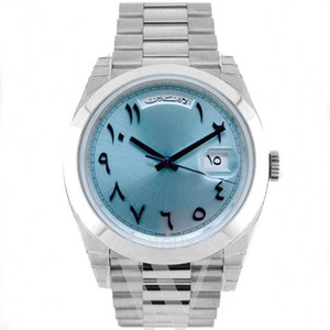2020 Les nouveaux hommes de montre 40mm jour-ancienne date montre mécanique automatique arab pas balayage mouvement batterie montres en acier inoxydable