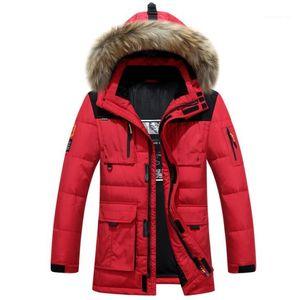 Inverno spesso cappotti con cappuccio di pelliccia anti freddo Windbreaker Piumini 19ss Designer Mens