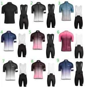 Rapha Summer Tour De France Team Sky Men S And Women S Short Sleeve Cycling Jersey Set Mountain Road Cycling Jersey