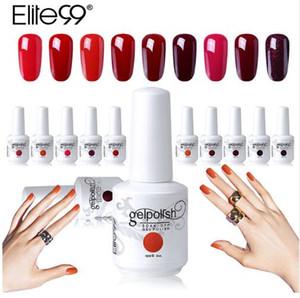 Elite99 15 ml cor vermelha vinho polonês polonês de longa duração Gel unha polonês Soak Off UV LED gel vernizes DIY Nail Art Design