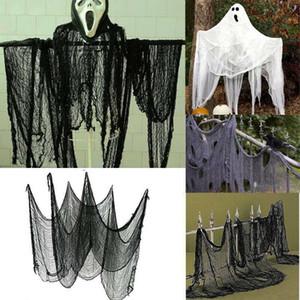 Neue Halloween Creepy Verbandsmull Große Rasterfeld-Garn Tuerleinen Haus Dekor Gothic Props Halloween-Party-Dekoration