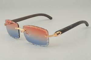 البيع المباشر من النظارات الشمسية الجديدة الأسود الطبيعي نمط القرن، 8100915 شخصية النظارات الشمسية المخصصة، والعدسات اللون منحوتة، الحجم: 56-18-140mm