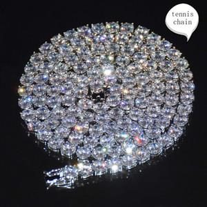 الجملة 3 ملليمتر 4 ملليمتر 5 ملليمتر 6 ملليمتر تنس سلسلة الزركون مكعب النحاس المواد 18 كيلو الذهب الرجال قلادة المرأة
