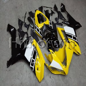 Botls + Capot de moto jaune surmoulé pour Jaune YZF-R1 07 08 YZFR1 2007 2008 Carénage