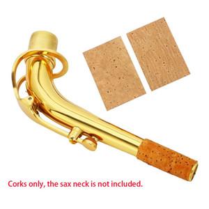 2pcs Natural Sax Neck Cork Sheet Suitable for Soprano   Tenor   Alto Saxophone Parts And Accessories