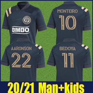 2020 MLS Philadelphia Union jérsei de futebol camisas MONTEIRO BEDOYA AARONSON Futebol uniformes de futebol Homens kits enfants crianças Philadelphia Union
