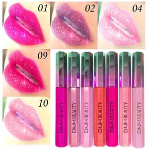Shiny Lip Makeup Pearlescent lipstick Durable waterproof Lip Stick Moisturizing Diamond Lipstick Metal Dark Red Purple Lipstick