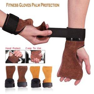 1Pair Kuhfell Gym Handschuhe Griffe Anti-Skid Gewichtheben Kreuzheben Workout Crossfit Fitness-Handschuhe Palm Schutz