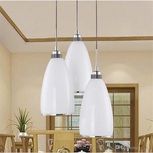 3pcs / set lampe suspension en verre moderne pendant minimaliste pendentif lampadaires en verre Restaurant créatif design moderne éclairage à la maison