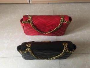 2020 New girl Fashion gold chain marmontr bag famous luxury party gold bee bag Marmont velvet shoulder bag Women designer bags
