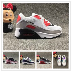 Baby kids Sneakers Shoes classic 90 Youth boys girls children's Running Shoes Black White Trainer Air Cushion Breathable Sports Shoes