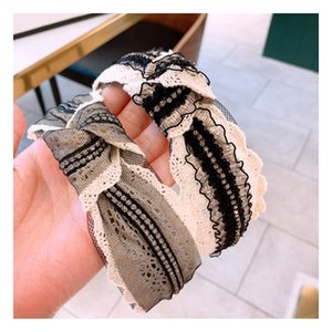 Style vintage dentelle femmes Bandeau Mode Cross Make Up Hairband Casual Party Fabric Girls Band Hair