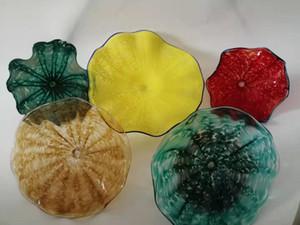 100% Soffiato attaccatura di vetro Wall Plates Plates design in vetro di Murano italiano Piatti Wall Art Iniziale Hotel decorativo parete di vetro
