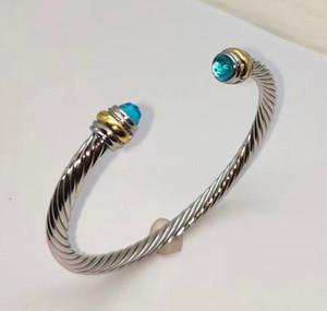 Gioielli d'oro della gemma del braccialetto di rame Genuine americano e di protezione europeo Bracciale Cristallo ambientale placcato