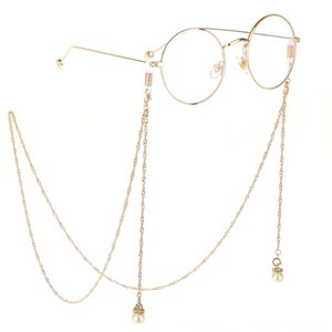 Wing sun hanging pearl multifunctional double-buckle chain sunglasses chain decorative glasses