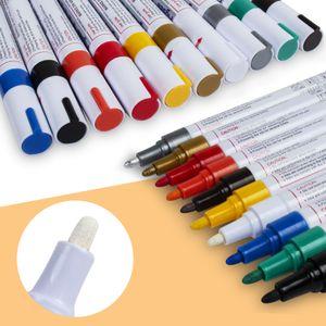 أقلام الطلاء 10 علامات حيوية بالزيت الملون بالألوان على صخور زجاج الخشب المعدني وأكثر مقاومة للطقس وغير سامة