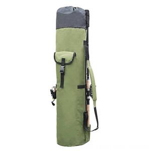Pesca Bolsas barra carrete Combo Pesca portátil multifunción de nylon varilla caso de almacenamiento de recorrido de la lona del carrete Organizador Carry Pole Bolsa de herramientas
