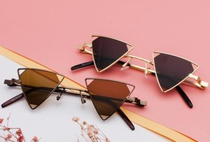 2020 new sunglasses punk style unique design triangular hollow glasses personalized metal sunglasses free shipping hot sale