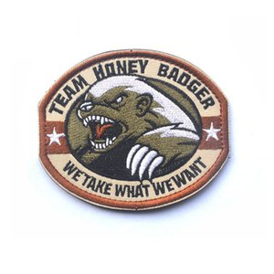 Team Morale Honey Badger Soldiers Armband Patch Hook & Loop Three-dimensional Badge Military Tactical Coat Combat Multicam Patc for Bags Cap