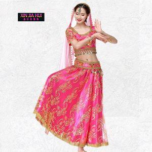 Belly Dance New Inde Sari Bride Motif Vêtements Femme Bollywood Performance Costume Serve Bellydance Sexy Saree Gypsy