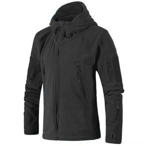 Erkekler Sonbahar Ceket Yumuşak Kabuk Fleece Antistatik Sweatproof Kış Hızlı Kurutma Windproof Termal Yürüyüş Hoodie Ceket Açık Atletik Wear