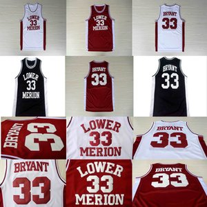 NCAA Lower Merion 33 Bryant Jersey Colégio Men High School de Black White Basketball costurado vermelho 2020 Hot venda