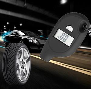 Rueda automático de LCD digital de aire del neumático calibrador de presión para el coche automático de la motocicleta coche digital de presión de neumáticos herramienta EEA257